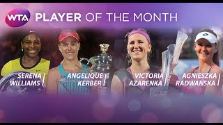 2016 WTA Player of the Month Finalists | January