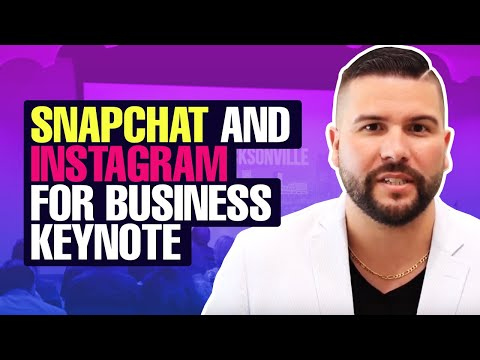Snapchat and Instagram For Business Keynote With Carlos Gil at Social Media Day Jacksonville
