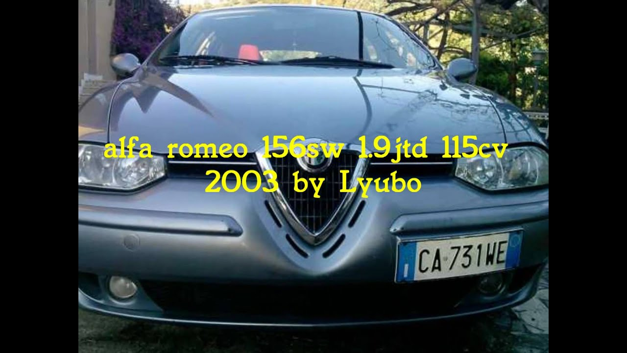 alfa romeo 156 sw 1 9 jtd 115 cv 0 100 km h youtube. Black Bedroom Furniture Sets. Home Design Ideas