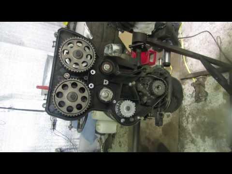 ремонт приоры.сборка двигателя на 124 поршнях без встречи клапанов часть 2 смотреть в хорошем качестве
