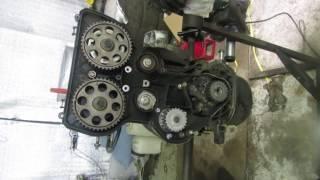ремонт приоры.сборка двигателя на 124 поршнях без встречи клапанов часть 2