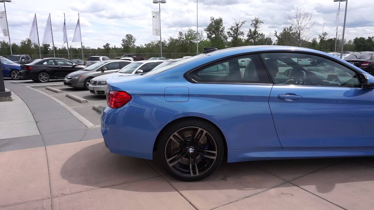 Yas Marina Blue Bmw M4 F82 Calgary Drives Away Youtube