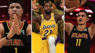 NBA 2K20 MyCAREER LaMelo Ball #5 - JR Smith 4-Point Play! Trae Young 50 Point Game!