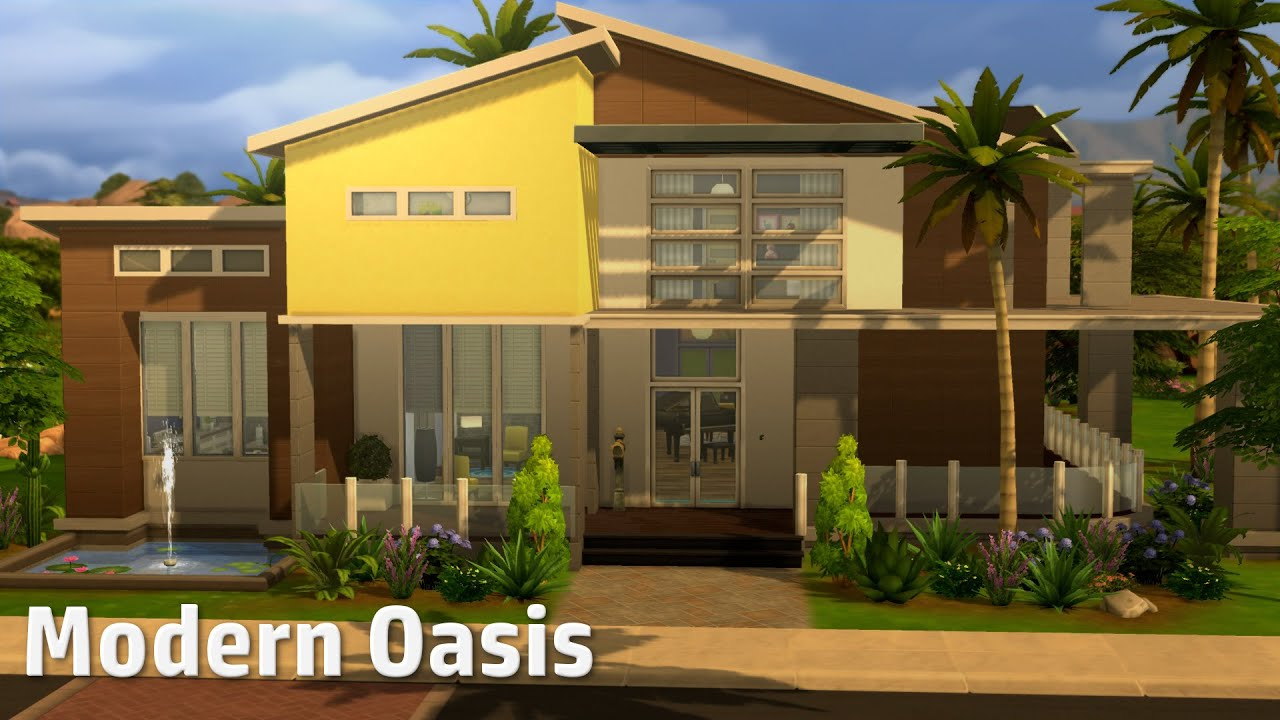 The Sims 4 House Building Modern Oasis YouTube
