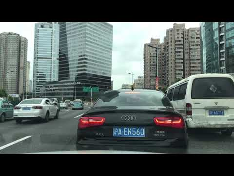 Driving to the U.S Embassy in Shanghai Tuesday, October 17,