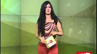 شاهد مذيعة في قناة شيعية عراقية تبث افلام لطم