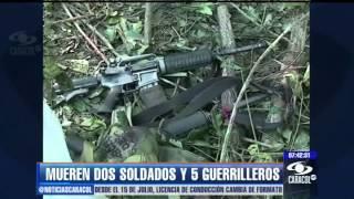 Combates en Caquetá dejan dos soldados y cinco guerrilleros m…