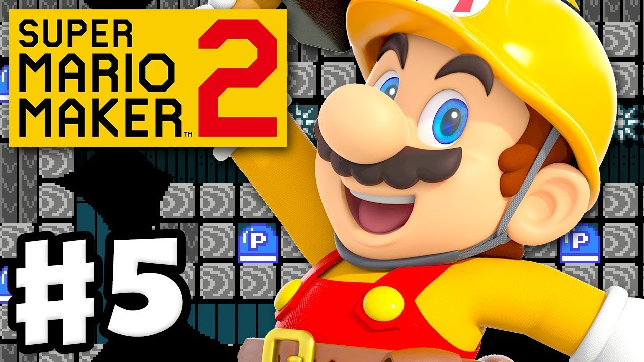 Super Mario Maker 2 - Gameplay Walkthrough Part 5 - Spooky P Switch Puzzle!  (Nintendo Switch)
