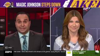 Rachel Nichols - Reacts to Magic Johnson Stepping Down as Lakers Team President | April 10, 2019