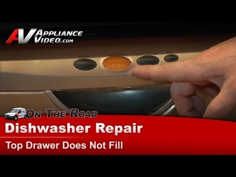 Fisher And Paykel Dishwasher Repair - Top Drawer Does Not Fill - DD602-SS