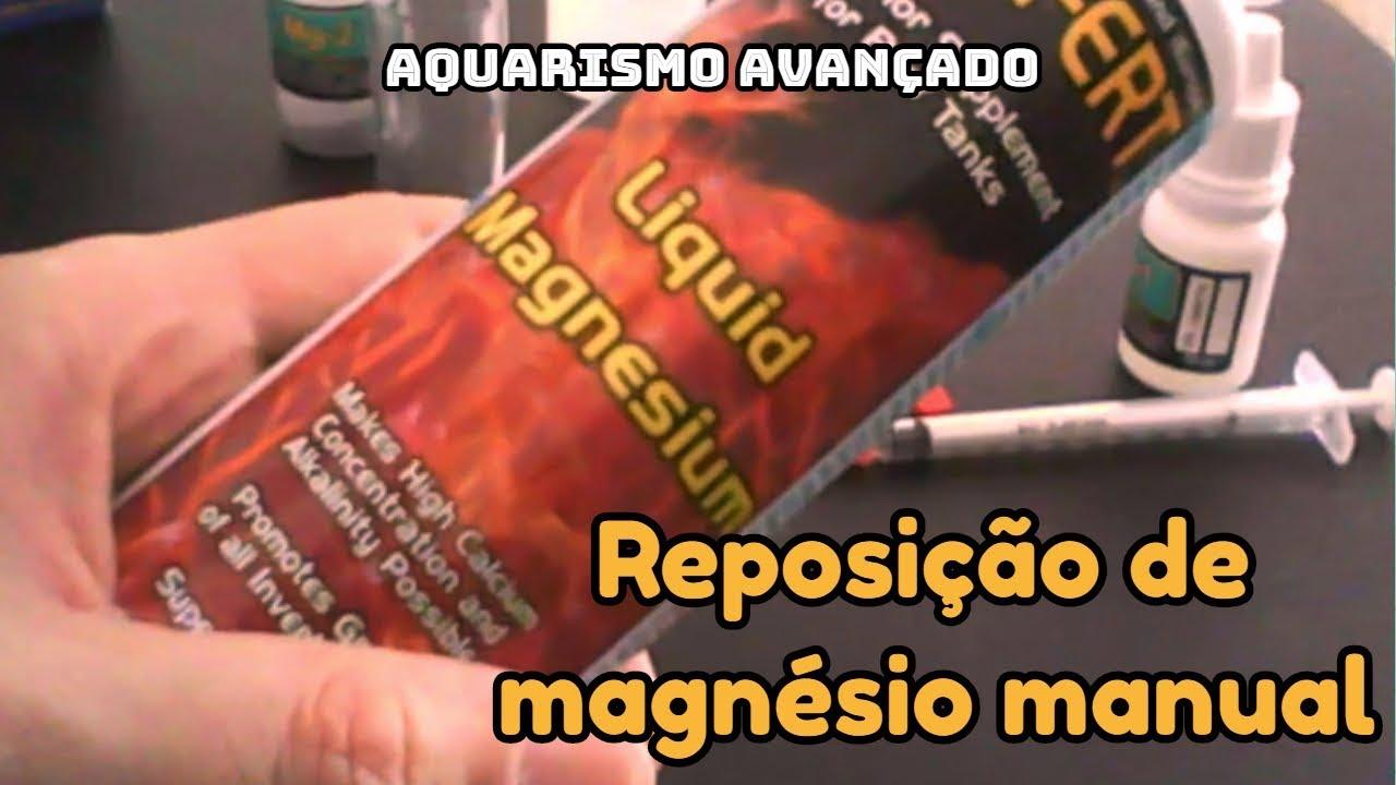 Reposição de Magnésio manual e prática | Aquarismo Avançado