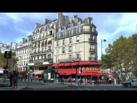 Walk Around Paris France. Montparnasse Saint-Sulpice Tuileries Saint-Augustin.