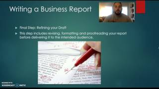 Wgu C716 Steps In Writing A Business Report