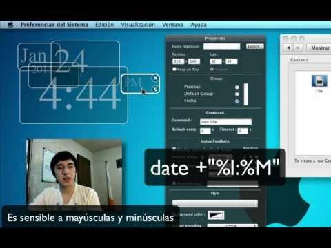 Tutorial de Geektool para Mac - Poner la fecha en tu escritorio