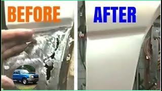 Lower Fender Rust Hole Repair | No Welding | Fiberglass Cloth