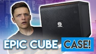 EPIC CUBE PC CASE?! [Thermaltake Core V21 Review!]