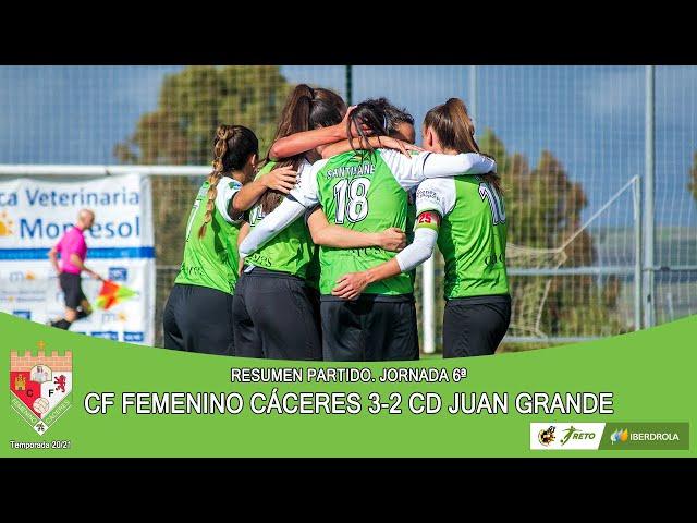 Liga #RetoIberdrola 20/21. Jornada 6ª Resumen: CF FEMENINO CÁCERES - CD JUAN GRANDE