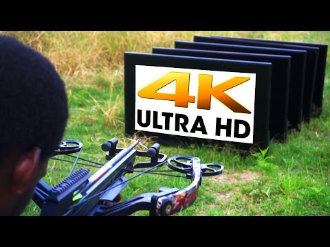 How Many 4K TVs Can the World's Most Powerful Crossbow Shoot Through? - GizmoSlip