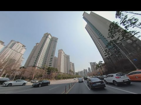 [ VR 360 ] ChungAng University to Gangnam, Seoul, Korea at spring drive | ●中央大学から江南まで | 중앙대학교부터 강남