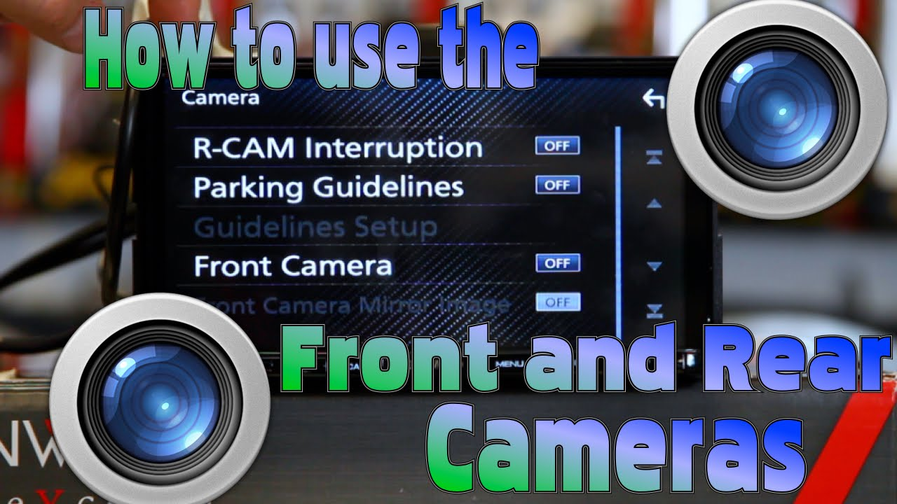 how to use front and rear cameras on the kenwood excelon radios [ 1280 x 720 Pixel ]