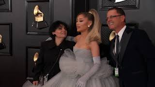Ariana Grande On The Red Carpet | Fashion Cam | 2020 GRAMMYs