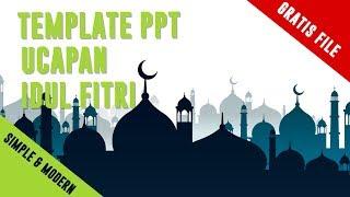 Gratis Template Ppt, Ucapan Selamat Hari Raya Idul Fitri 2019 | 1440 H