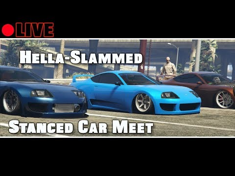 GTA 5 Car Meet Hella Slammed Flush Nation Stanced Society