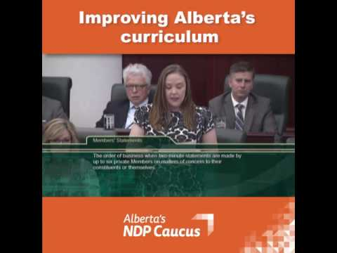 Members Statement 05 31 2017 Improving Alberta's Curriculum