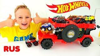 Влад и Никита играют с Hot Wheels Monster Trucks