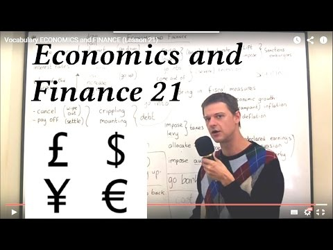 Vocabulary ECONOMICS and FINANCE (Lesson 21)