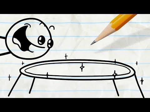 Pencilmate Finds a Trampoline! -in-...
