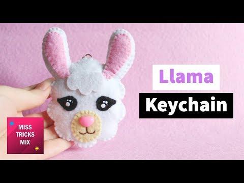 Llama Felt Keychain Plush