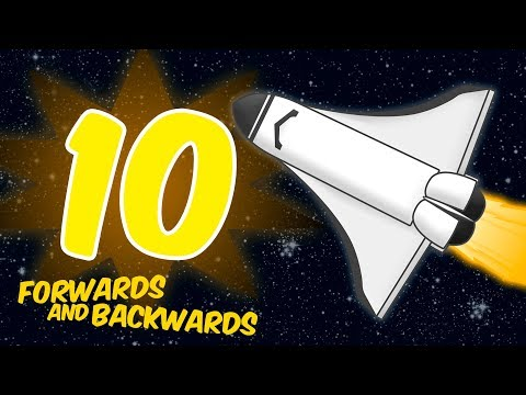 Counting to 10 Forwards and Backwards - ROCKET THEME Song for Children Toddlers Preschool