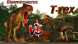 T-rex Vs Giga (Hard)| Warpath: Jurassic Park PS1 (DINOSAUR GAME)| Carlos1416_Dinosaur