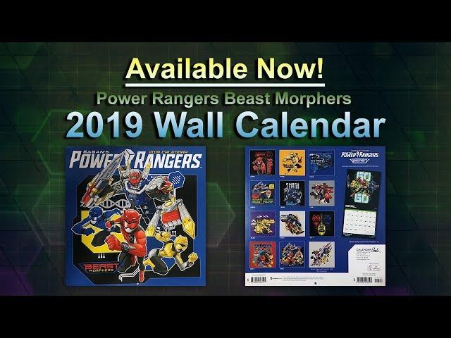 Power Rangers Beast Morphers 2019 Wall Calendar