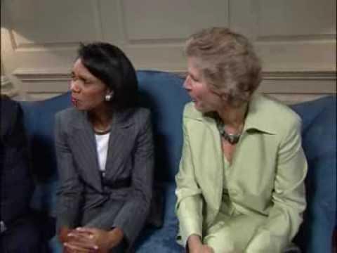 Cal Ripken, Jr., Secretary Rice & Karen Hughes Int...