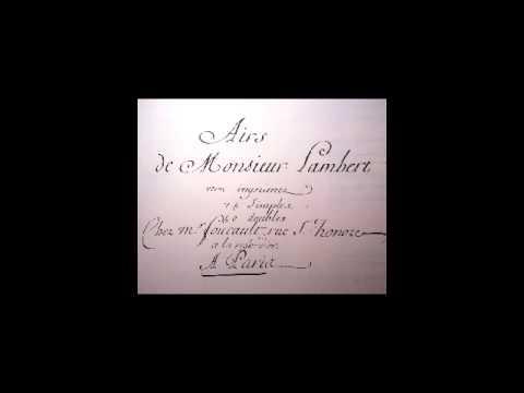 Michel Lambert (1610-1696) Airs de cour. Sophie Boulin-soprano. William Christie- clavecin