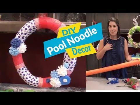 DIY Pool Noodle Decor