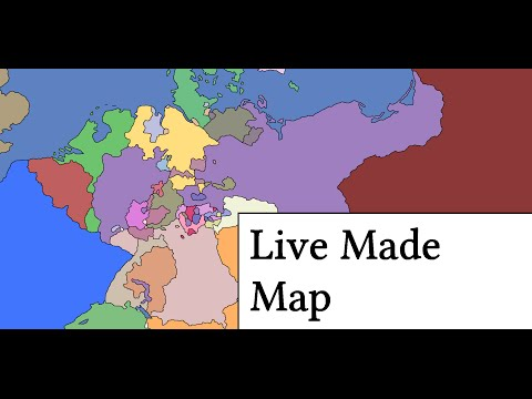 Live Made Map of German States in 1860