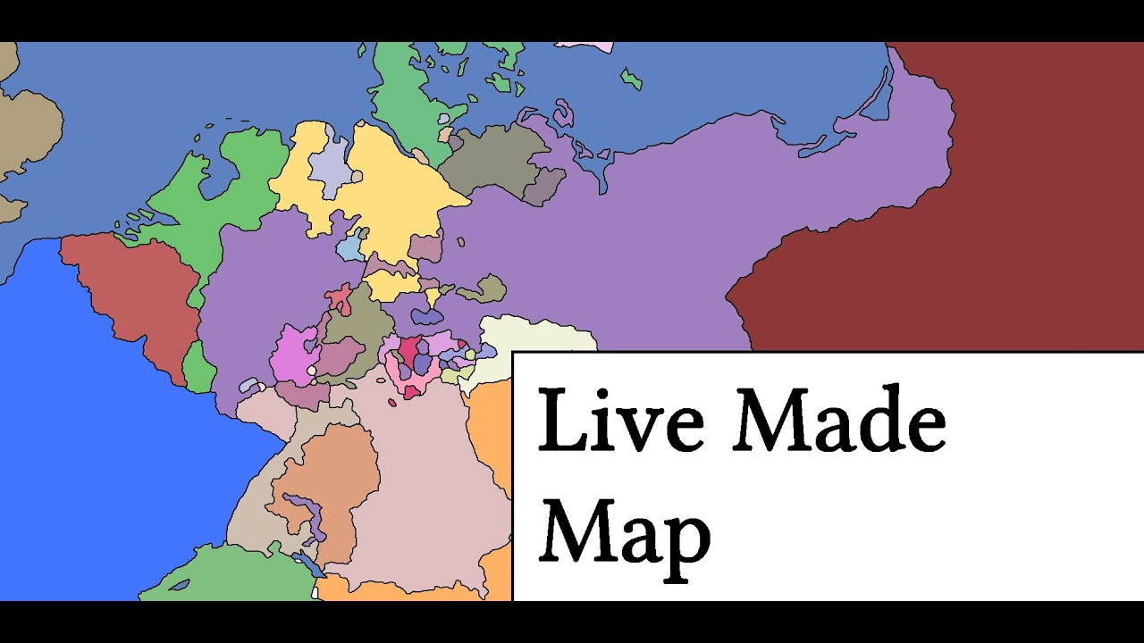 Live Made Map of German States in 1860 - YouTube