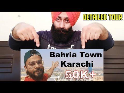 Indian Reaction On Bahria Town Karachi Detailed Tour - Part 1 Ft. PunjabiReel TV