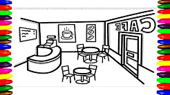 In French Restaurant Coloring Page - Free France Coloring Pages ... | 138x246