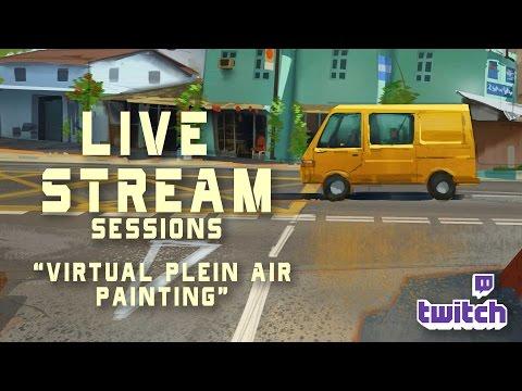 ART Live Stream 2 -Virtual Plein Air painting
