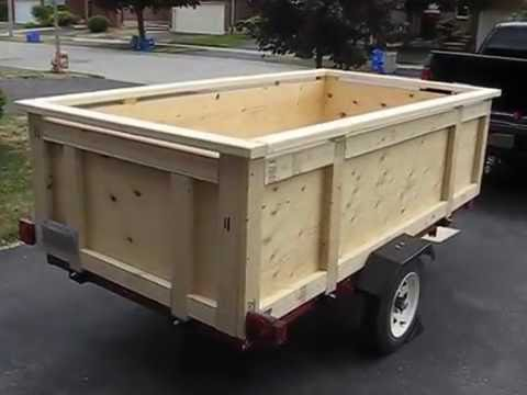 Utility trailer-build your own box trailer - YouTube