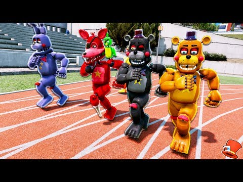 GUESS WHO'S THE FASTEST ROCKSTAR FNAF 6 ANIMATRONIC! (GTA 5 Mods For Kids FNAF RedHatter)