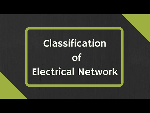 Classification of Electrical Network