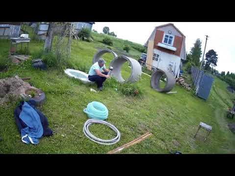видео: как быстро и аккуратно выкопать 3 кольца под канализацию