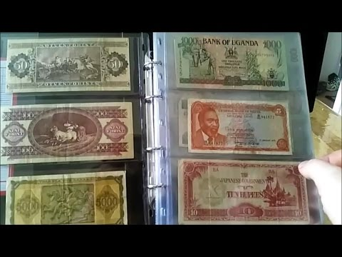 My Old & Foreign Banknote Collection - Its not all coins you know!
