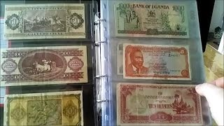 my old foreign banknote collection its not all coins you know