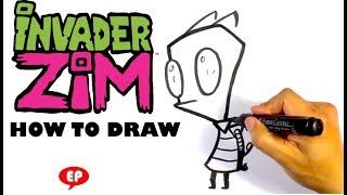 How to Draw Invader Zim - Easy Pictures to Draw